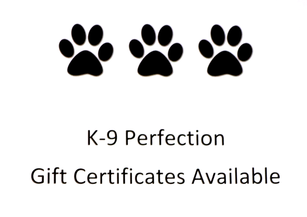 K9 Perfection Gift Certificates